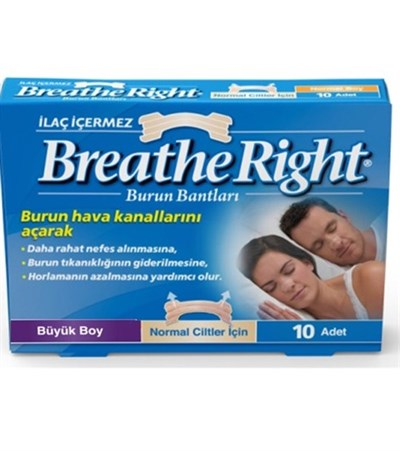 Breathe Right Burun Bandı (Büyük Boy)